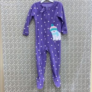 Carter's fleece footie pajamas polar bear